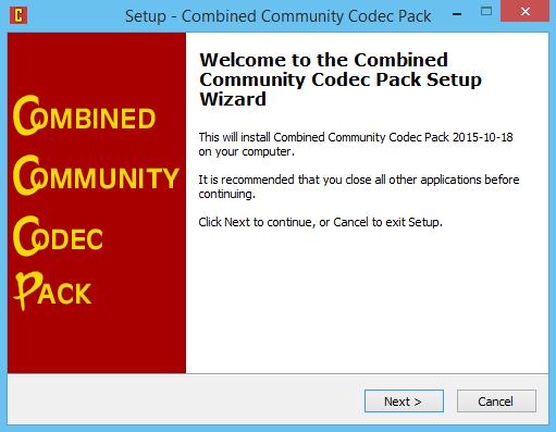 CCCP CODEC PACK
